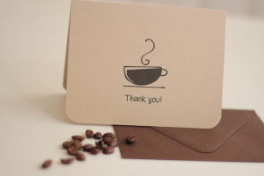 Coffe Cup Note Card