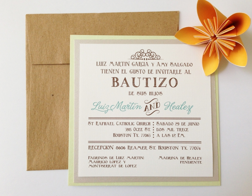 bautizo i love cards design