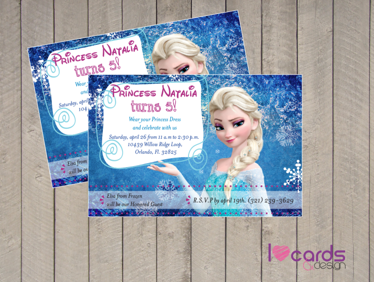 Frozen Invitations